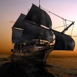 The ancient ship in the sea...
