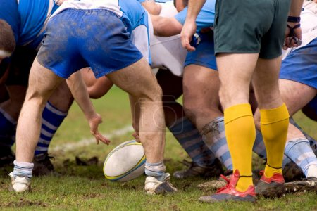 Competition de rugby...