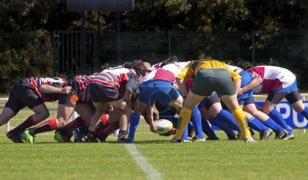 Match de rugby...