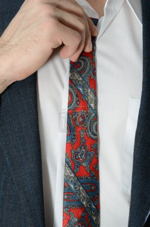 Trying on Ties