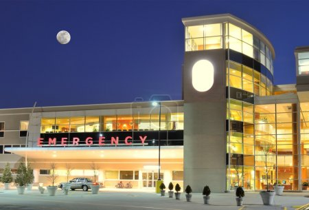 Photo for Exterior of a hopsital Emergency Room - Royalty Free Image