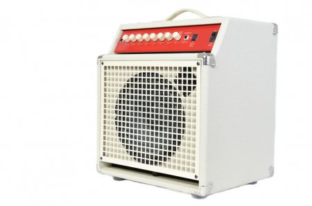 Photo for Acoustic instrument amplifier isolated on white - Royalty Free Image