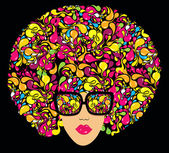 Bright multi-coloured fashion illustration Print for T-shirt