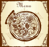 Design menu with pizza
