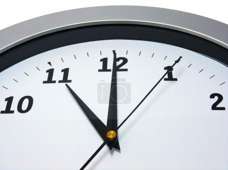 11 heures sur l'horloge murale