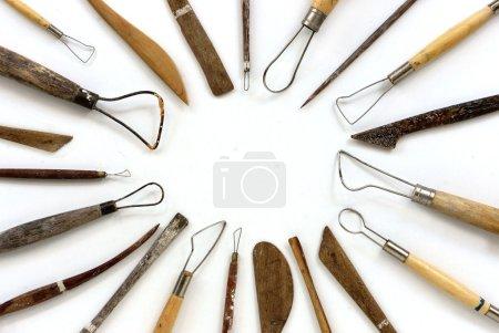 Photo pour Outils sculpture pour l'art créatif . - image libre de droit