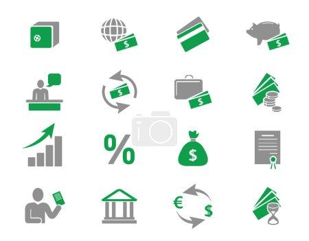 Bank and finance icons set