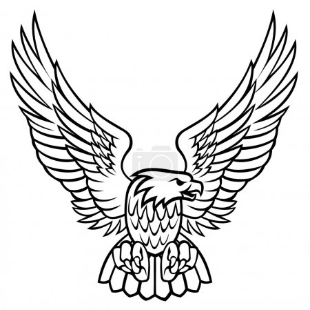 Illustration for Eagle vector illustration - Royalty Free Image