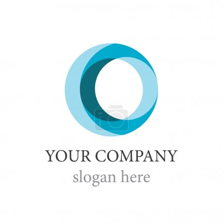 Illustration for A template for the logotype of company is a dark blue sphere - Royalty Free Image