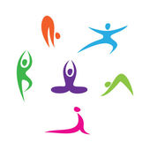 Set of icons - Yoga