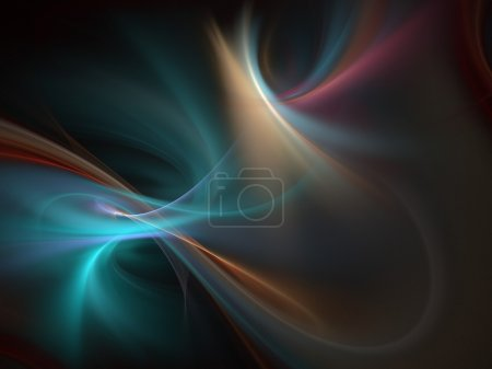 Photo for Graphics abstract texture. Computer rendered background. 3D fractal. Colorful blur wave. - Royalty Free Image