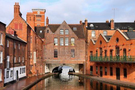 Birmingham water canal network - famous Gas Street...