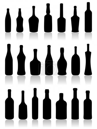 Set of bottles.