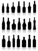Set of bottles.