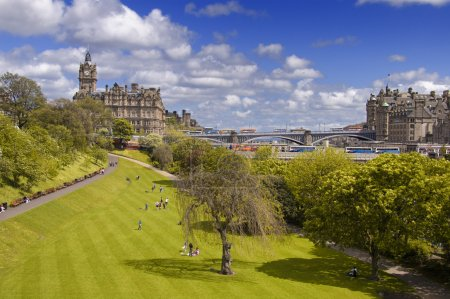 Photo for East Princes Street Gardens in Edinburgh, Scotland - Royalty Free Image