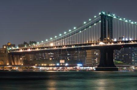 Photo pour Pont de Manhattan et brooklyn de brooklyn - image libre de droit