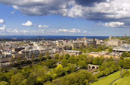 Photo for The Edinburgh skyline from Edinburgh Castle - Royalty Free Image