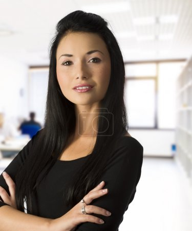 The asian business woman