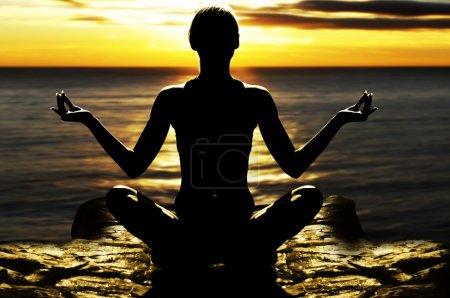 Girl in yoga pose