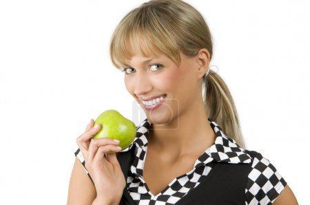 Green apple and smile
