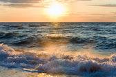 """Постер, картина, фотообои """"Морской закат серфинга волны"""""""