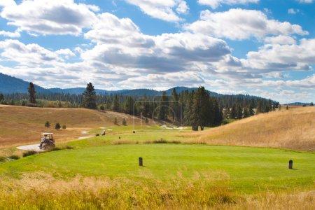 Photo pour Longue journée au golf de l'Idaho - image libre de droit