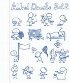 14 new cool and funny doodles featuring Alfred Doodle in different situati