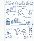 11 new cool and funny doodles featuring Alfred Doodle in back to school si