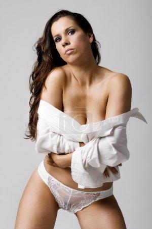 Fashion girl wearing sexy lingerie
