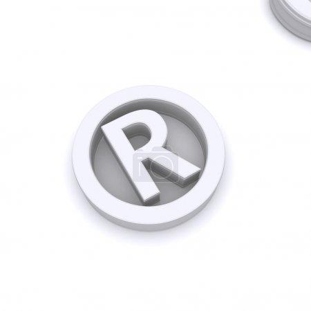 Photo for Creative Design Of 3d Render Register Symbol - Royalty Free Image