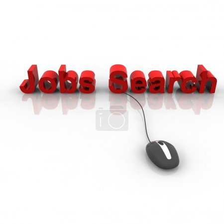 Red Job Search Text