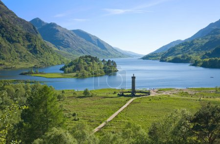 Memorial to the Jacobites, at Glenfinnan, Highlands, Scotland