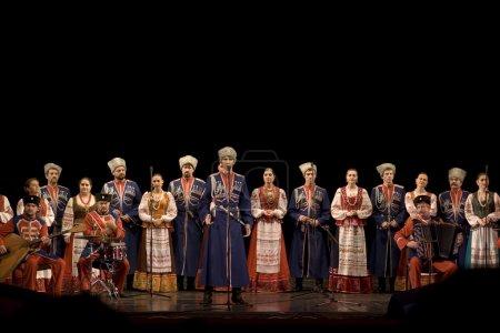 Photo pour Choeur de cosaque russe Kouban - image libre de droit
