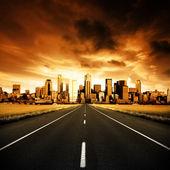 "Постер, картина, фотообои ""городское шоссе"""