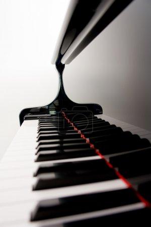 Blurred Piano Keys