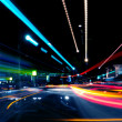 Motion Blurred Abstract Street Lights...