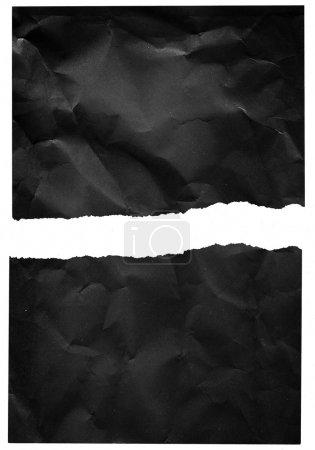 Crumpled torn paper