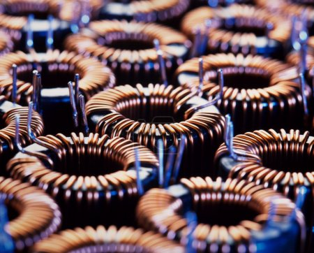 Closup of electric coil with little depth of field