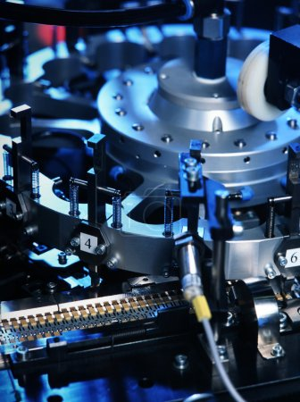 Photo for Detail of machine producing electronic parts - Royalty Free Image