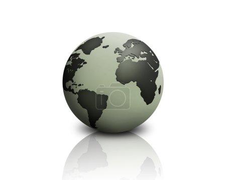 Foto de Globo del mundo en un backgroiund blanco - Imagen libre de derechos