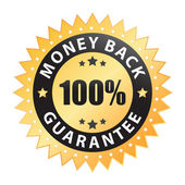 100% money back guarantee vector isolated on a white background