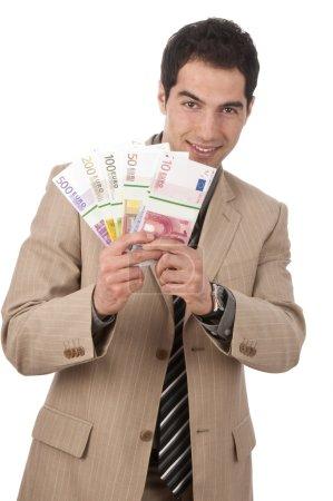 Businessman has money