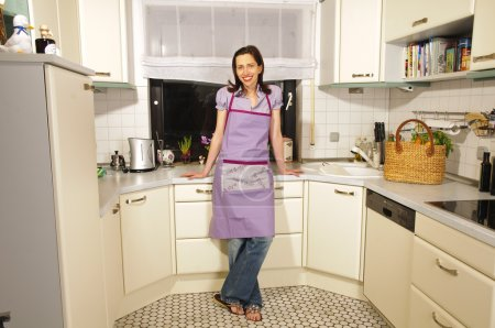 Housewife in her kitchen