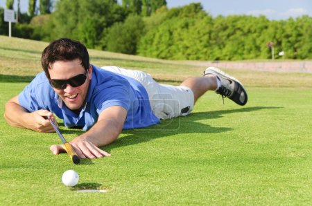 Young Golfer on green