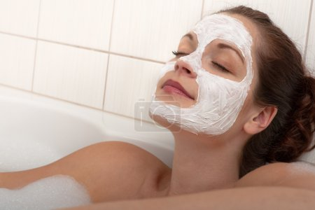 Body care series - Woman with facial mask