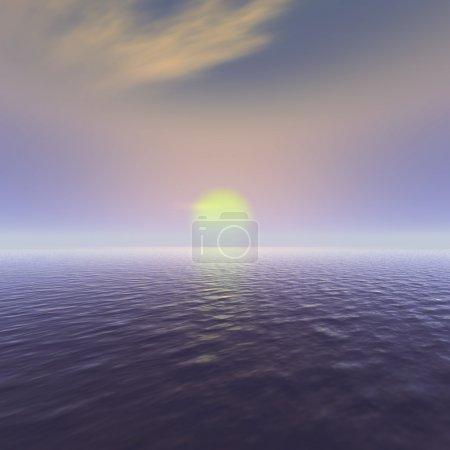 Photo pour Vue sur l'océan Sun rise. convenable comme toile de fond et parfait pour des fins de marketing. un symbole de repos, de paix dans l'esprit, de romance et de méditation. - image libre de droit