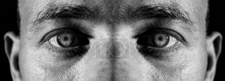 homme visage yeux