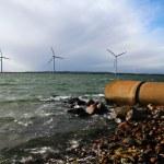Постер, плакат: Energy waste sea turbines