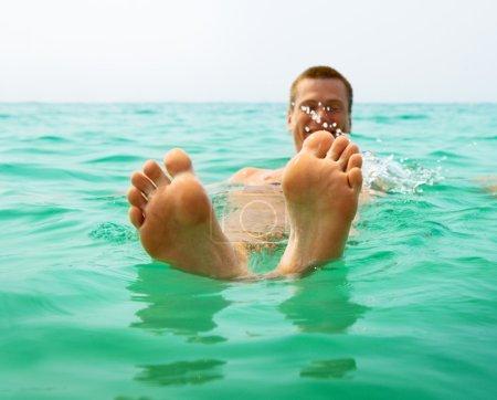 Man in ocean water