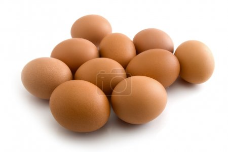 Photo for Eggs isolated on the white background - Royalty Free Image